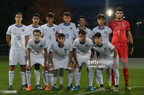 "Italy U17 selezione B poses during the FIGC ""Torneo dei Gironi"" at Centro Tecnico Federale di Coverciano on November 22, 2019 in Florence, Italy."