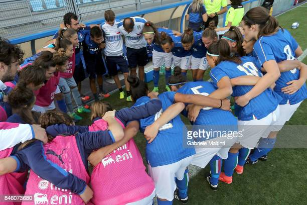 Italy U19 during the match between Italy U19 and Spain U19 on September 12 2017 in Florence Italy