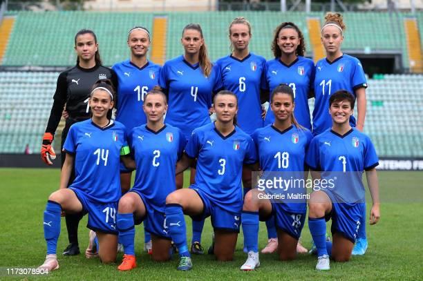Italy U19 Women pose during the UEFA European Women's Under19 Qualifying Round Group 8 match between Italy U19 and Estonia U19 at Stadio Artemio...