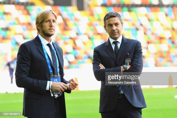 Italy U21 head delegation Massimo Ambrosini and Alessandro Costacurta Commissioner of FIGC before the International Friendly match between Italy U21...