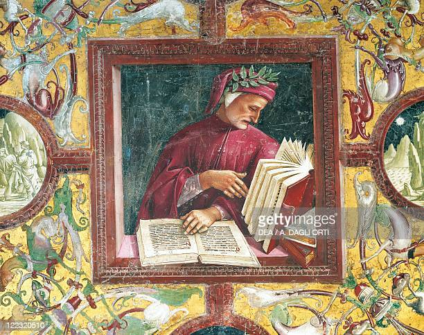 Italy Umbria Region Orvieto Cathedral Chapel of the Madonna di San Brizio Luca Signorelli Portrait of Dante Alighieri fresco
