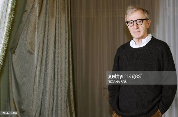 US Film director Woody Allen poses during a photocall of 'Match Point' in Rome 21 December 2005 AFP PHOTO / TIZIANA FABI