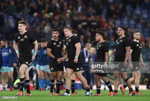 Italy v New Zealand All Blacks - Rugby Cattolica Test Match All blacks celebration at Olimpico Stadium in Rome, Italy on November 24, 2018