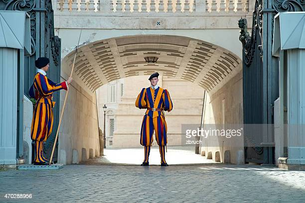 italy, vatican: gates of st. peter's basilica - honor guard stock pictures, royalty-free photos & images