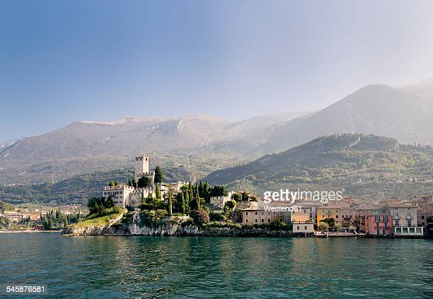 Italy, Veneto, Malcesine with Castello Scaligero