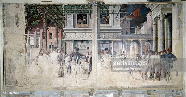 Italy Veneto Padua Church of Eremitans Ovetari Chapel Whole artwork view Hagiographic account taken from The Golden Legend