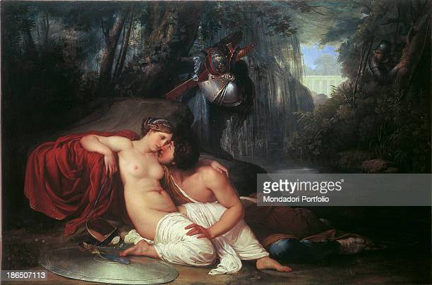 Italy Veneto Veice Gallery of the Accademy Whole artwork view The Christian warrior in amorous poses with the sorceress Armida is set free by a...