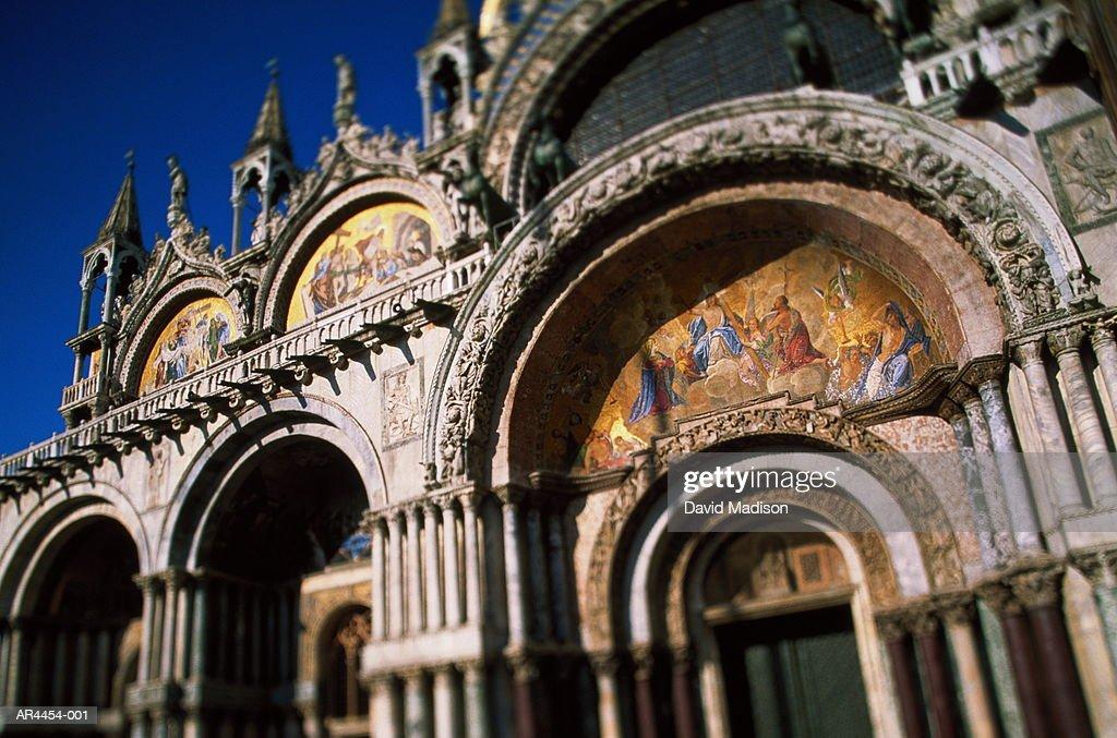 Italy Veneto Venice Basilica San Marco Central Doorway Stock Photo ...