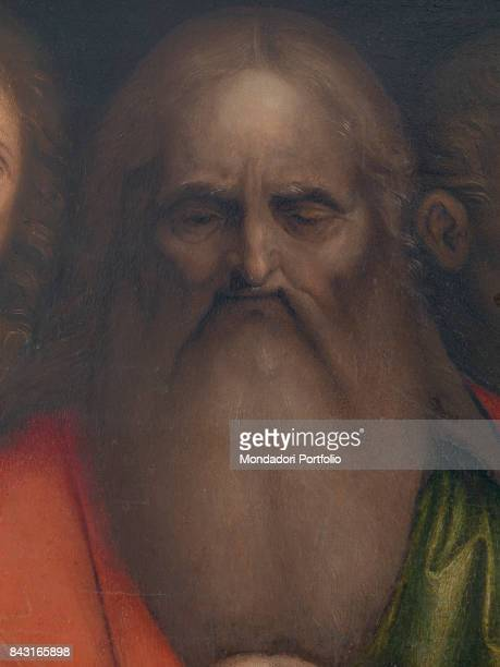 Italy Veneto Venice Gallerie dell'Accademia Detail An apostle watching Jesus Christ washing Saint Peter's feet