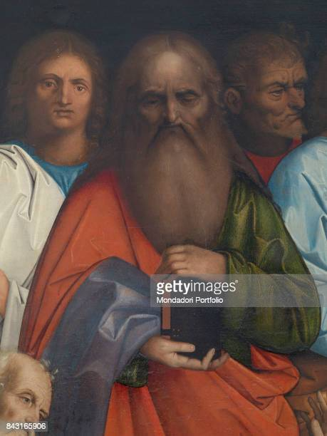 Italy Veneto Venice Gallerie dell'Accademia Detail The apostles watching Jesus Christ washing Saint Peter's feet