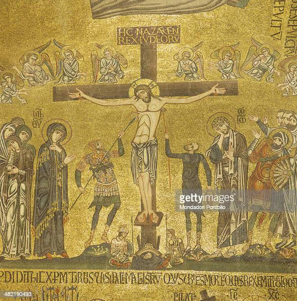 Italy Veneto Venice Saint Mark's Basilica Detail Detail of Crocifixion