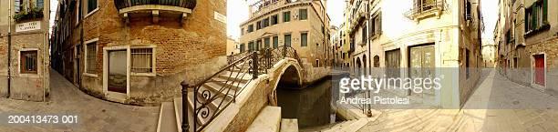 italy, veneto, venice, sestiere cannaregio (360 degree panoramic) - panoramica a 360 gradi foto e immagini stock