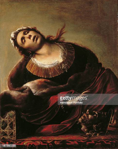 Italy Veneto Vicenza Musei Civici Palazzo Chiericati Pinacoteca All Young woman with her head bent into frenzy wrapped in an elegant robe bordered by...