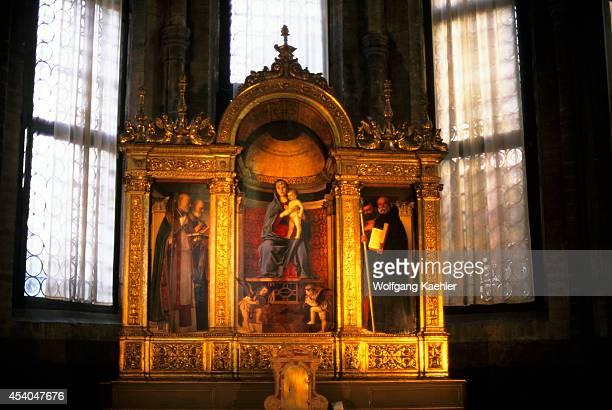 Italy Venice Church Of Santa Maria Gloriosa Dei Frari La Madonna Col Bambino By G Bellini