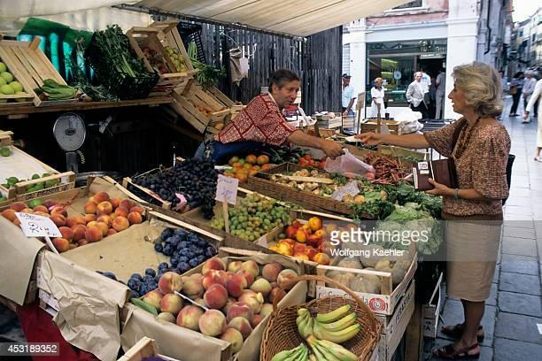 Italy Venice Market Scene