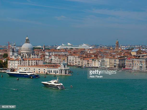 italy, venice, punta della dogana - punta della dogana stock photos and pictures