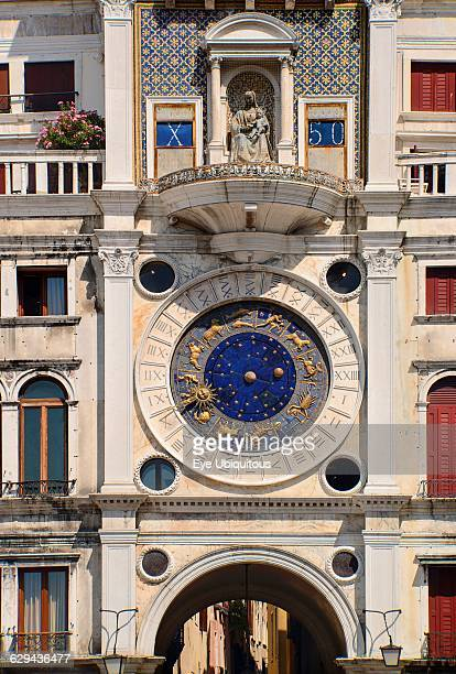 Italy Venice St Mark's Square The Torre dell'Orologio or Clocktower