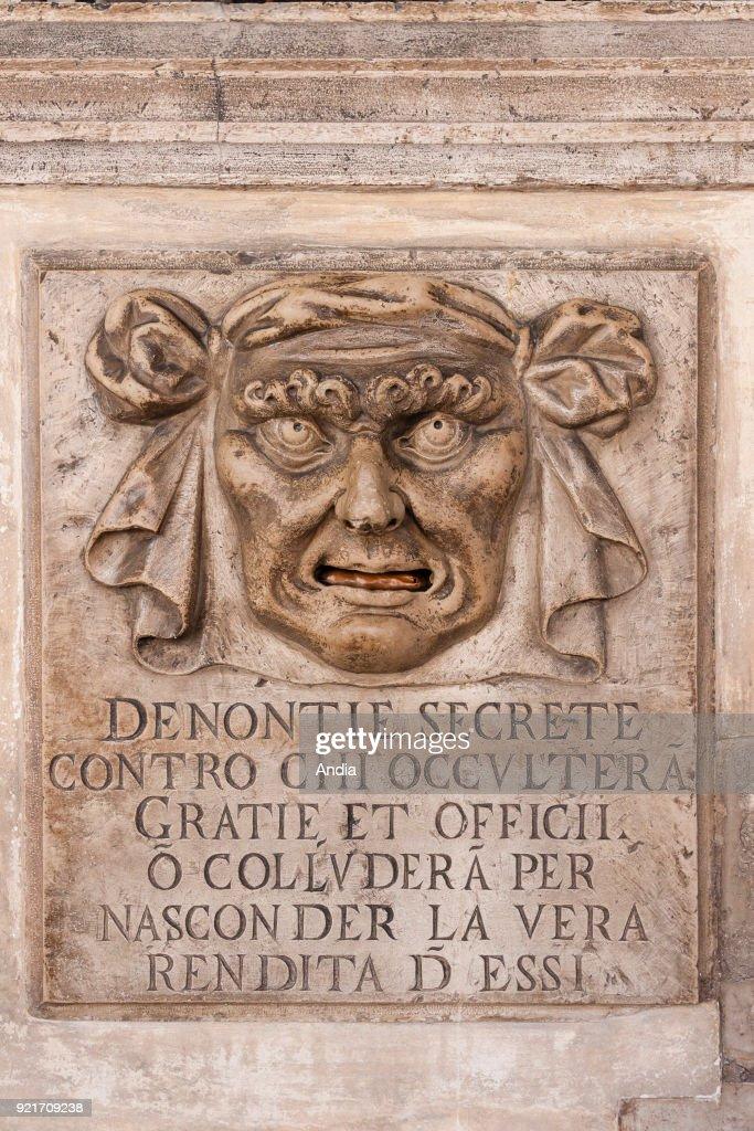 the Bocca di Leone in the Doge's Palace.
