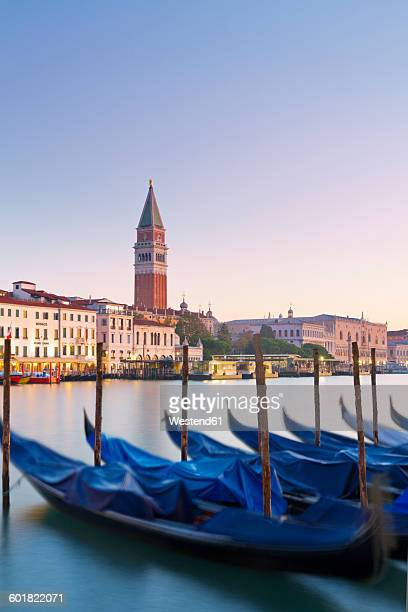 Italy, Venice, View from Dorsoduro on San Marco and the tower