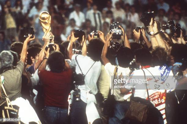 Italy wins the final of the World Cup against Germany in front of 90,000 spectators at the Santiago Bernabeu stadium in Madrid, Spain on 11 July 1982...