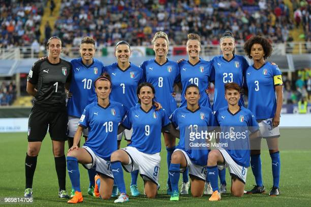 Italy Women poses during the 2019 FIFA Women's World Cup Qualifier match between Italy and Portugal at Stadio Artemio Franchi on June 8 2018 in...