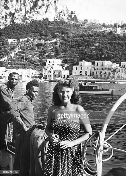 ItalyCapri Rita Hayworth On The Yacht Zaca July 1950