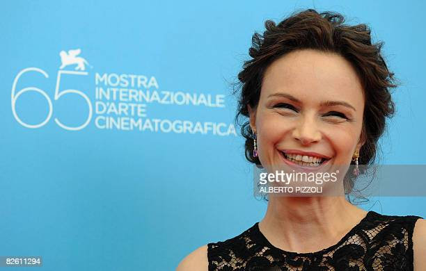 Italy's actress Francesca Neri poses during the photocall of the movie 'Il Papa Di Giovanna' directed by Italian Pupi Avati during the 65th Venice...