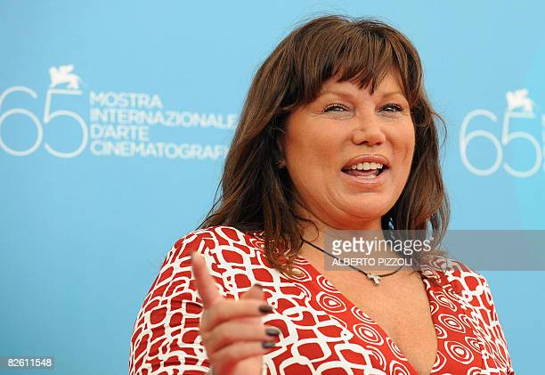 Italy's actress Serena Grandi poses during the photocall of the movie Il Papa Di Giovanna directed by Italian Pupi Avati during the 65th Venice...