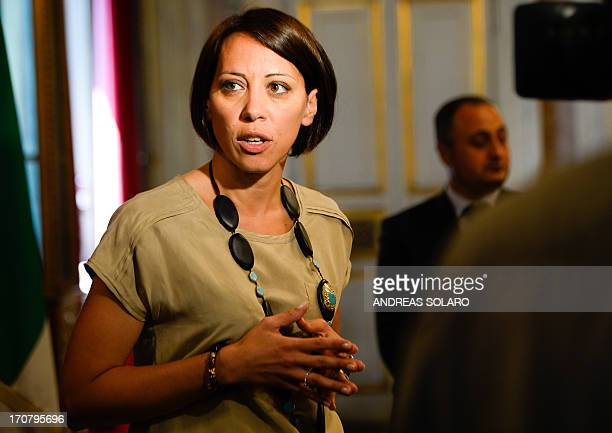 Italy's Agriculture Minister Nunzia De Girolamo is pictured after a meeting with her French counterpart focusing on the reform of the Common...
