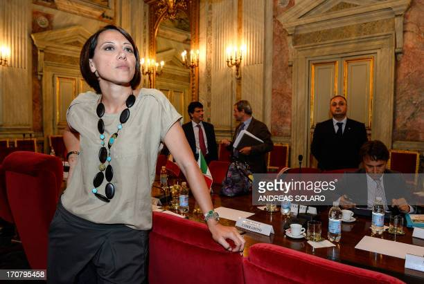 Italy's Agriculture minister Nunzia De Girolamo is pictured after her meeting with her French counterpart focusing on the reform of the Common...