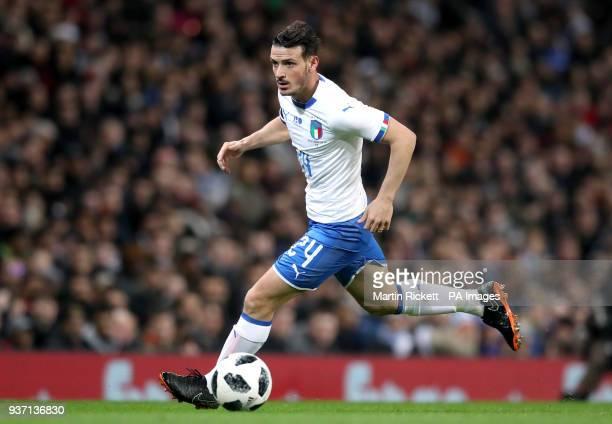 Italy's Alessandro Florenzi during the international friendly match at the Etihad Stadium, Manchester.