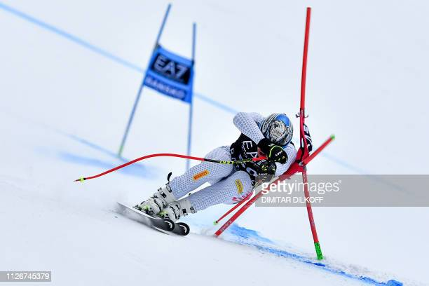 TOPSHOT Italy's Alexander Prast competes during the men's SuperG combined event of the FIS Alpine Ski World Cup in Bansko on February 22 2019
