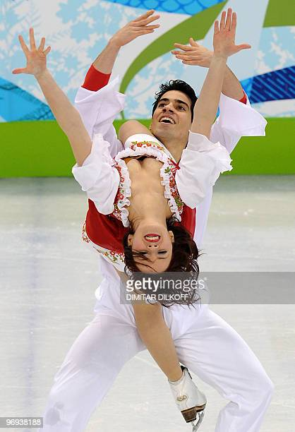 Italy's Anna Cappelini and Luca Lanotte compete in the Figure Skating Original Dance program, at the Pacific Coliseum in Vancouver during the XXI...