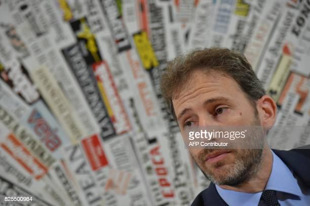 Italy's antiestablishment Five Star Movement party Davide Casaleggio and president of 'Casaleggio Associati' a company specializing in the definition...