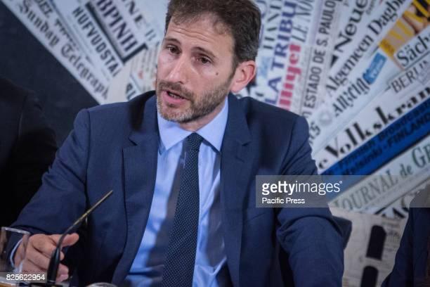 Italy's antiestablishment Five Star movement party Davide Casaleggio at Casaleggio Associati a company specializing in the definition of innovative...