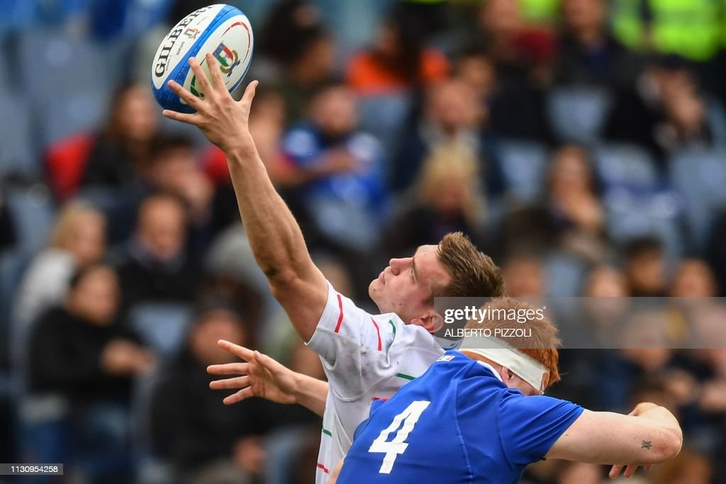 RUGBYU-6NATIONS-ITA-FRA : News Photo