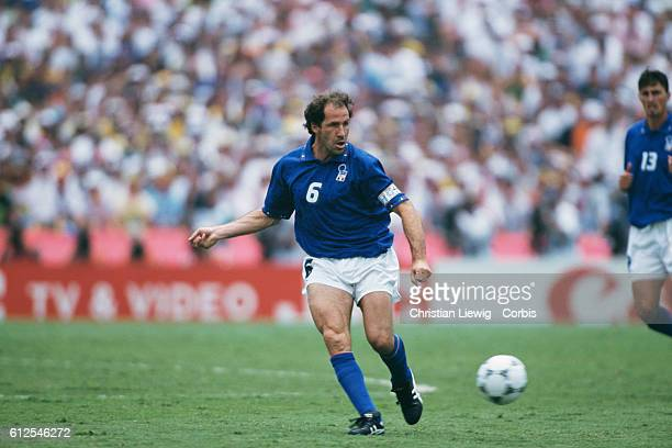 Italy's captain Franco Baresi during the final of the 1994 FIFA World Cup against Brazil.