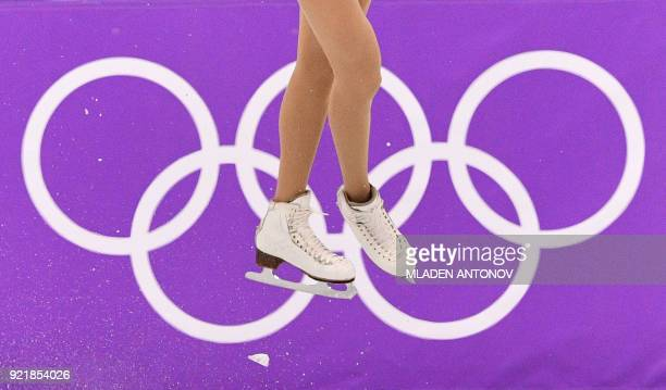 TOPSHOT Italy's Carolina Kostner competes in the women's single skating short program of the figure skating event during the Pyeongchang 2018 Winter...