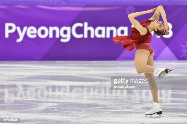 Italy's Carolina Kostner in action during the women's figure skating short program event during the Pyeongchang 2018 Winter Olympic Games in...