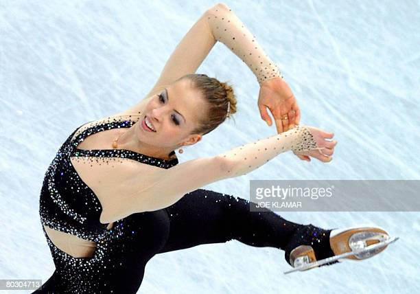 Italy's Carolina Kostner performs her short program at the Scandinavium arena in Gothenburg on March 19 during the World Figure Skating Championships...