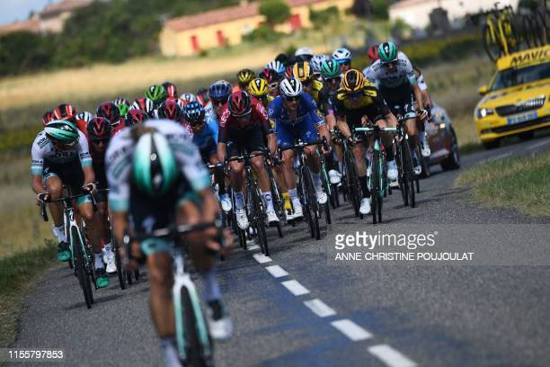 TOPSHOT Italy's Daniel Oss rides with a group in the back of the race during the tenth stage of the 106th edition of the Tour de France cycling race...