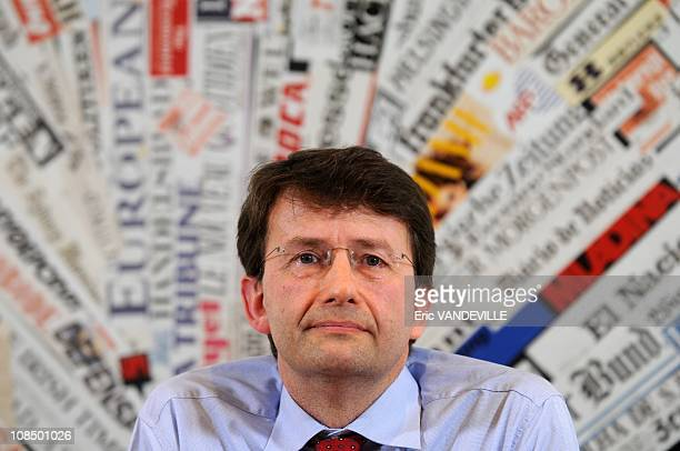 Italy's Democratic Party new leader Dario Franceschini at a news conference at the foreign press headquarters in Rome Italy on March 30 2009
