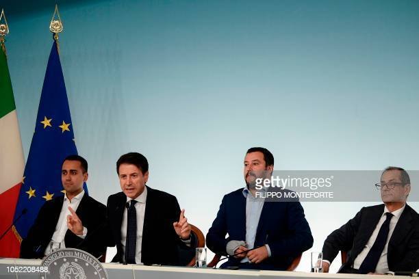 Italy's Deputy Prime Minister and Minister of Economic Development Labour and Social Policies Luigi Di Maio Italy's Prime Minister Giuseppe Conte...