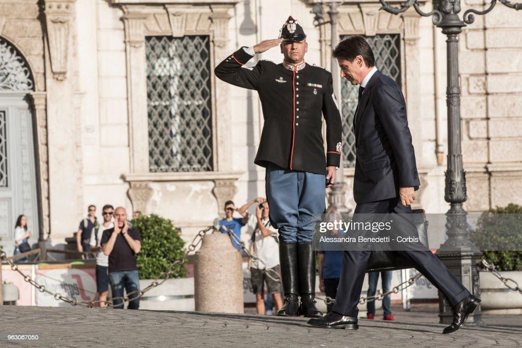 Designated Prime Minister Giuseppe Conte Meets With President Mattarella
