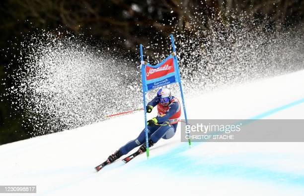 Italy's Dominik Paris competes during the men's Super G event of the FIS Alpine Skiing World Cup in Garmisch-Partenkirchen, southern Germany, on...