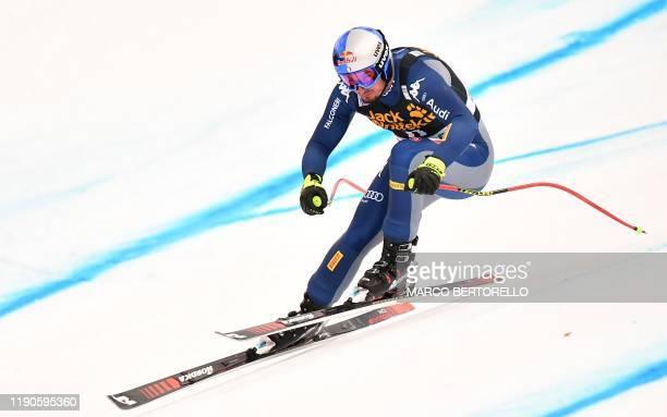 Italy's Dominik Paris competes in the FIS Alpine Ski World Cup Men Downhill race on December 27 2019 in Bormio Italian Alps