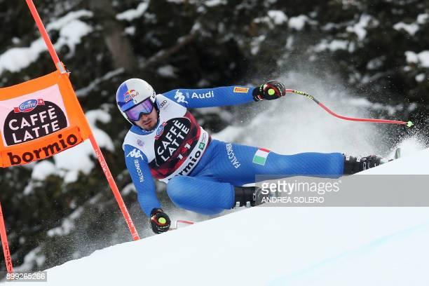 Italy's Dominik Paris competes in the FIS Alpine World Cup Men Downhill in Bormio Italian Alps on December 28 2017 Dominik Paris won the race / AFP...