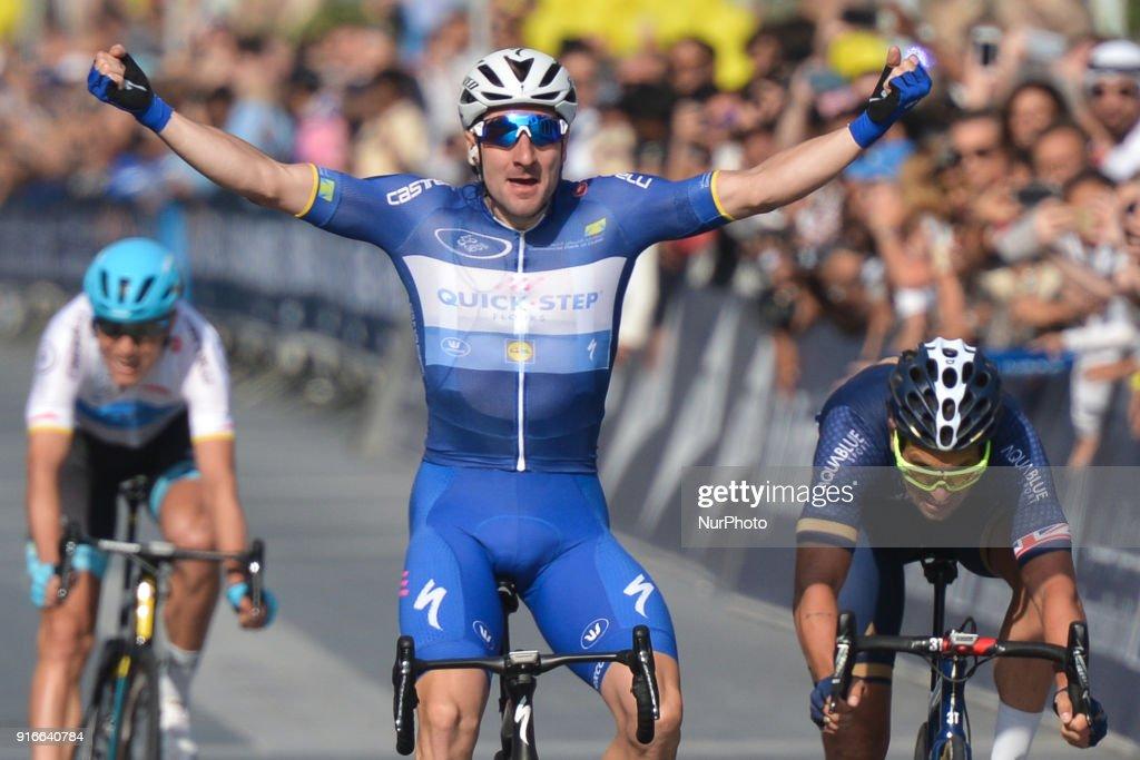 Italian Elia Viviani Wins Dubai Tour 2018 : ニュース写真