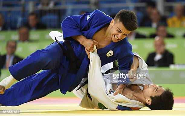 Italy's Fabio Basile competes with South Korea's An Baul during the men's 66kg judo final at the Rio 2016 Olympic Games in Rio de Janeiro on Aug 7...