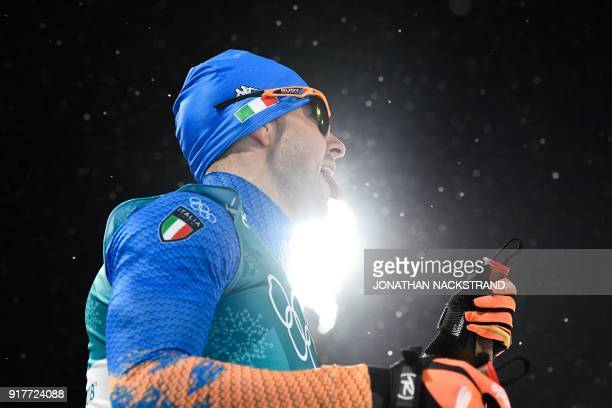 Italy's Federico Pellegrino competes during the men's crosscountry individual sprint classic semifinal at the Alpensia cross country ski centre...
